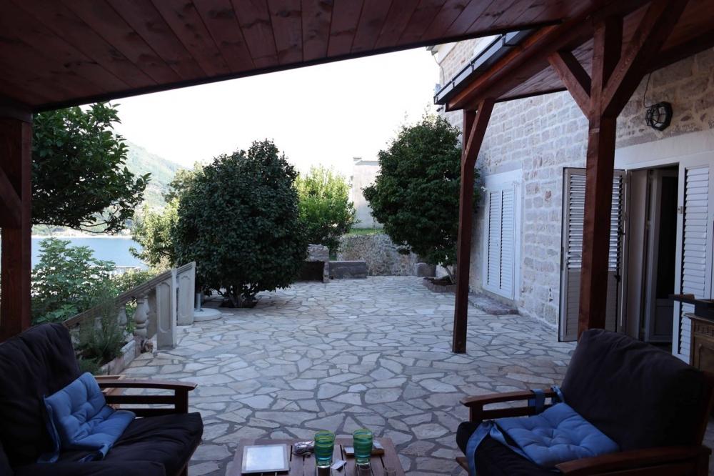 Stone house in Kotor Bay