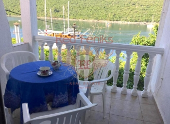 For sale beautiful panoramic apartment with garden in Bigova located right opposite the beach.