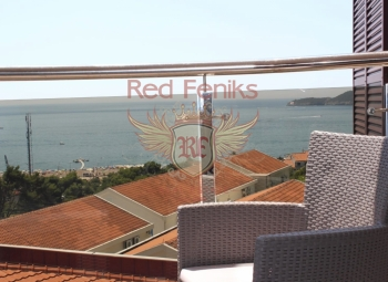 For sale one bedroom apartment in Becici in complex with swimming pool.