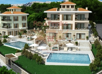 Two luxury villas, each with an area of 600m2 will be built in the most prestigious village on the coast, in Rezevici.