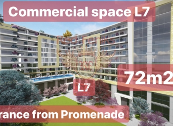 Commercial space L7 with an area of 72.