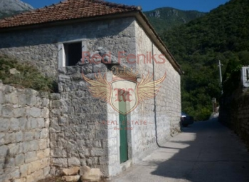 Old two-storey stone house for sale in Zelenika, Herceg Novi bay, Montenegro.