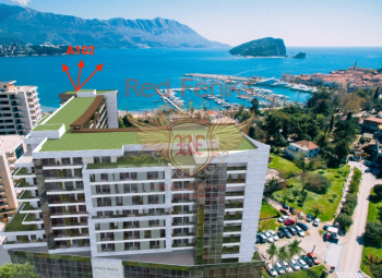 For sale one-bedroom apartment (A102) in a new complex on the first line in Budva.