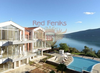 For sale a magnificent apartment in a beautiful complex with a view of the Bay of Kotor.