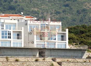 """The villa is located in the """"Dobra Voda"""" on the first line The villa has several levels."""
