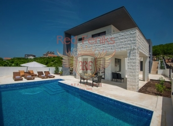 For sale new moder villa in Krimovica with four badrooms.