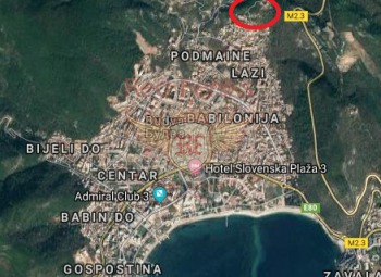 Plot for sale in Budva, Montenegro