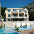 Apartment for sale in a gated complex with a swimming pool on the shores of the Bay of Kotor.