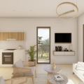 Panoramic apartment for sale in Becici with an area of ​​54 m2 is located on the sixth floor of a seven-storey building.