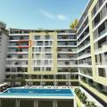 Plaja 100 m mesafede yeni bir komplekste manzaralı bir daire fiyatı için iki stüdyo Budva, Karadağ da satılık ev, Montenegro da satılık ev, Karadağ da satılık emlak