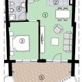 One bedroom apartment in Becici, becici satılık daire, Karadağ da ev fiyatları, Karadağ da ev almak