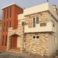 New residential complex of villas.