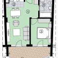One Bedroom Apartment in Becici, apartments for rent in Becici buy, apartments for sale in Montenegro, flats in Montenegro sale
