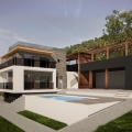 Lustica panoramik iki katlı ev, Karadağ satılık ev, Karadağ satılık müstakil ev, Karadağ Ev Fiyatları