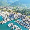 Yeni lüks kompleks Porto Novi'nin yanında, Kumbor kasabasında Adriyatik Denizi kıyısında satılık arsa.