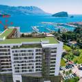 Budva'da panoramik deniz manzaralı modern bir komplekste birinci hatta 2 yatak odalı daire, Karadağ satılık evler, Karadağ da satılık daire, Karadağ da satılık daireler