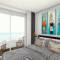 Budva'da panoramik deniz manzaralı modern bir komplekste birinci hatta 2 yatak odalı daire, Becici da ev fiyatları, Becici satılık ev fiyatları, Becici da ev almak