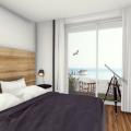 Budva'da panoramik deniz manzaralı modern bir komplekste birinci hatta 2 yatak odalı daire, Becici dan ev almak, Region Budva da satılık ev, Region Budva da satılık emlak