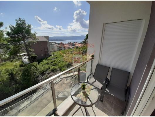 Tivat'ta Deniz Manzaralı Satılık İki Yatak Odalı Daire, Karadağ satılık evler, Karadağ da satılık daire, Karadağ da satılık daireler