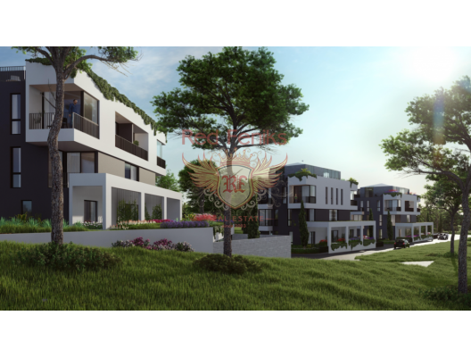 Tivat'ta yeni bir konut kompleksinde daireler, Karadağ satılık evler, Karadağ da satılık daire, Karadağ da satılık daireler