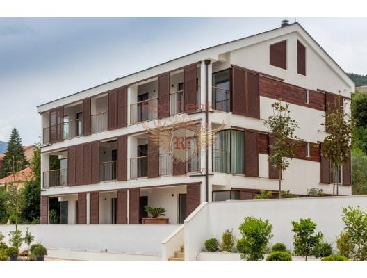 Körfez Manzaralı Yeni Bir Konut Kompleksinde Daireler ve Şehir Evleri, Karadağ satılık evler, Karadağ da satılık daire, Karadağ da satılık daireler