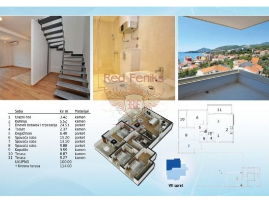 Rafailovici'de Yeni Bitmis Site, Montenegro da satılık emlak, Becici da satılık ev, Becici da satılık emlak