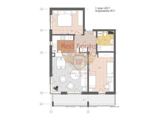Körfez Manzaralı Yeni Bir Konut Kompleksinde Daireler ve Şehir Evleri, becici satılık daire, Karadağ da ev fiyatları, Karadağ da ev almak
