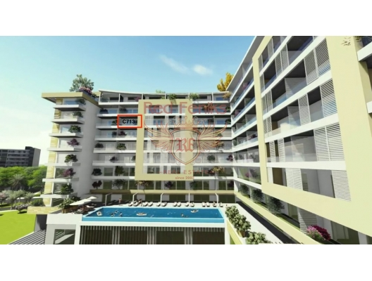 Panoramic Apartment On The New Complex In Budva, hotel in Montenegro for sale, hotel concept apartment for sale in Becici