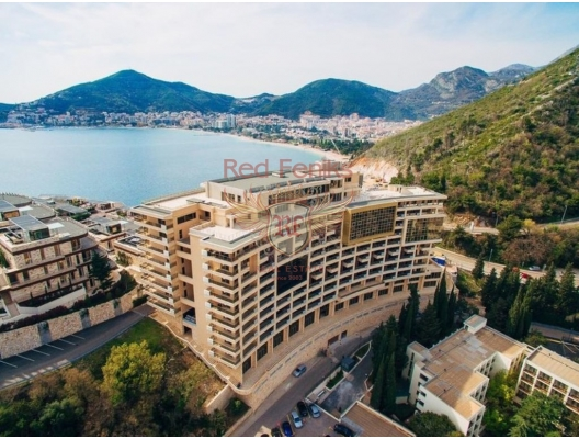 Hotel residences for sale in Montenegro, Becici/Budva The apartment has excellent rental potential.