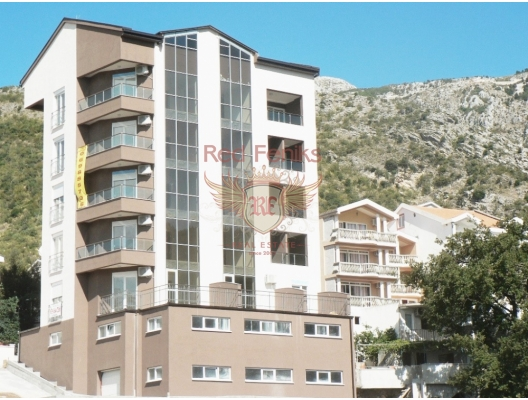 Spacious apartment for sale in Rafailovici, Budva riviera, Montenegro with an area of 49m2 is located on the 4th floor.