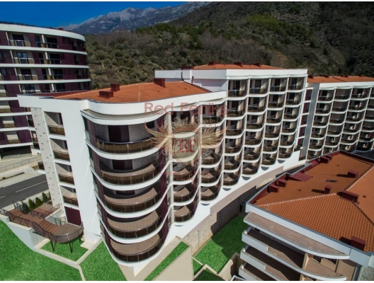 New residential complex in Becici, investment with a guaranteed rental income, serviced apartments for sale