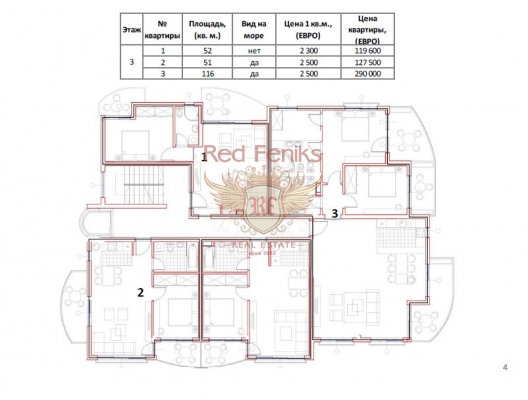 Petrovac'ta yeni bir evde üç daire, Region Budva da satılık evler, Region Budva satılık daire, Region Budva satılık daireler