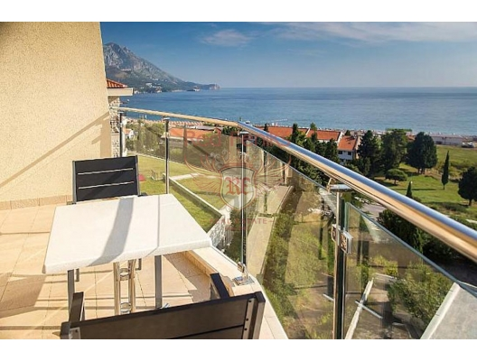 Studio Apartment In Becici with Panoramic Sea View, hotel residences for sale in Montenegro, hotel apartment for sale in Region Budva