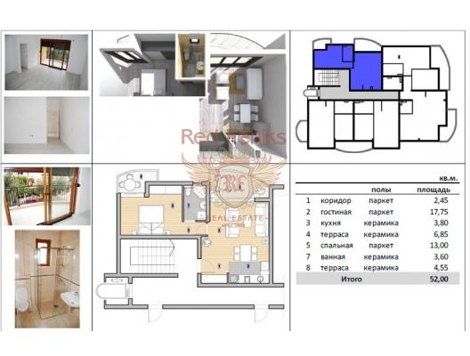 Petrovac'ta yeni bir evde üç daire, Region Budva da ev fiyatları, Region Budva satılık ev fiyatları, Region Budva ev almak