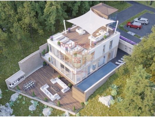 Deniz manzaralı bir çam ormanında modern villa ve St. Stephen, Karadağ satılık ev, Karadağ satılık müstakil ev, Karadağ Ev Fiyatları