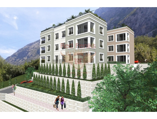 Apartments with view of Boka bay in Dobrota village., Montenegro real estate, property in Montenegro, flats in Kotor-Bay, apartments in Kotor-Bay