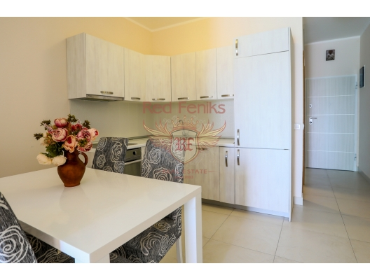 For sale one bedroom apartment in Becici Apartment in a new building on the Adriatic coast in Becici village, close to Budva city.