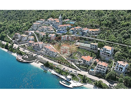 For sale is offered a villa number 6 in a luxurios new complex with a sea view in Boka bay.