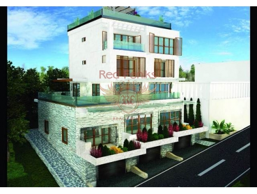 There are three apartments 120 sqm, 120 sqm and 250 sqm.