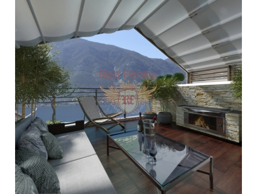 Luxury Duplex with 4 bedrooms and sea view. Dobrota, Kotor Bay, apartments for rent in Dobrota buy, apartments for sale in Montenegro, flats in Montenegro sale
