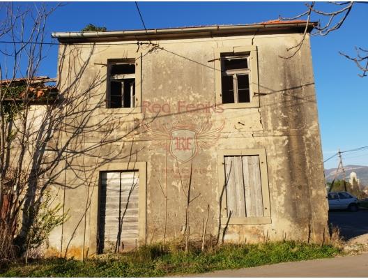 Lustica imar için eski panoramik deniz manzaralı ev, Karadağ Villa Fiyatları Karadağ da satılık ev, Montenegro da satılık ev, Karadağ satılık villa