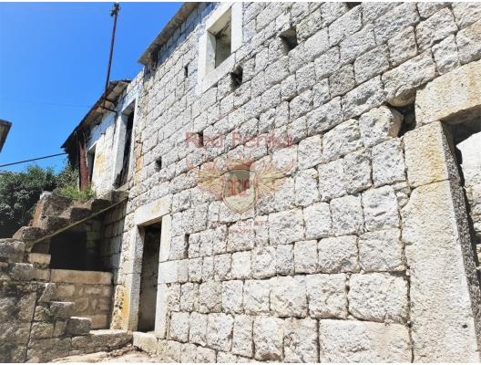 Panoramik deniz manzaralı taş ev, Karadağ satılık ev, Karadağ satılık müstakil ev, Karadağ Ev Fiyatları