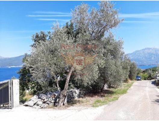 Krasici'de panoramik deniz manzaralı kentsel arsa, Karadağ Arsa Fiyatları, Budva da satılık arsa, Kotor da satılık arsa