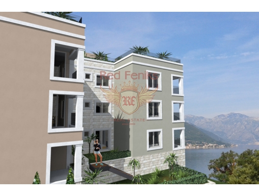 Sunny apartments in a new, small house, in a picturesque corner of the village of Dobrota.