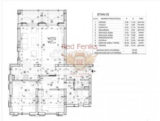 Tivat'ta yeni konut binası, Karadağ'da satılık yatırım amaçlı daireler, Karadağ'da satılık yatırımlık ev, Montenegro'da satılık yatırımlık ev