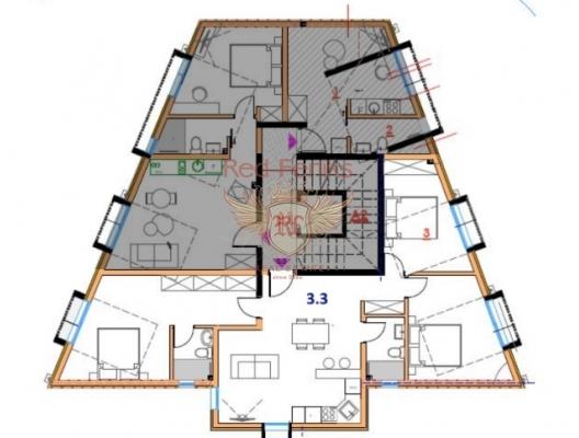 Tivat Satılık Üç Yatak Odalı Daire, Karadağ satılık evler, Karadağ da satılık daire, Karadağ da satılık daireler
