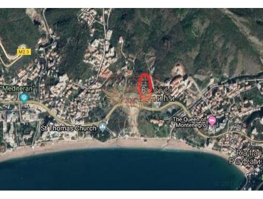 Grundstück zum Verkauf in Becici, Budva Riviera Montenegro Das Projekt des Baus einer Wohnanlage mit einer Fläche von 10 000 m2.