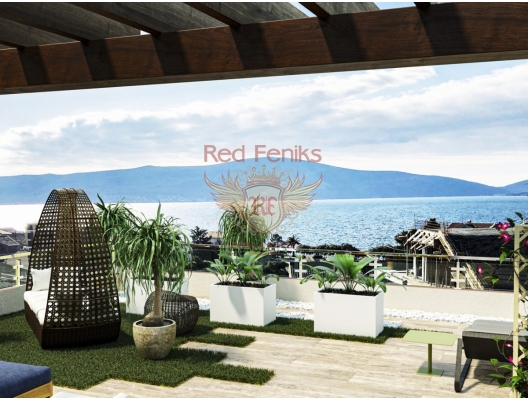 Penthouse with a unique rooftop relaxation area and gorgeous sea views in Tivat, Montenegro real estate, property in Montenegro, flats in Region Tivat, apartments in Region Tivat