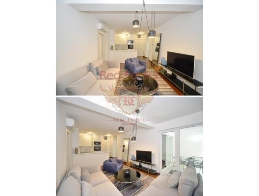KAradağ satılık daire Przno, Budva Rivierası, Karadağ otel Maestral yakın çevresinde ana yolun altında seçkin bir turistik yerde satılık iki yatak odalı daire.