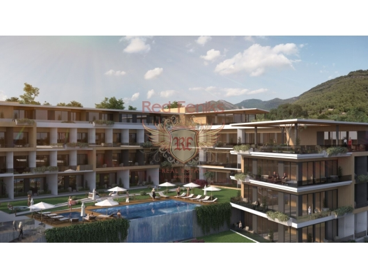 Studios in a hillside complex in Tivat, sea view apartment for sale in Montenegro, buy apartment in Bigova, house in Region Tivat buy